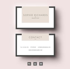 Two side business card template by Emily's ART Boutique on Creative Market