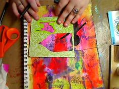 Mixed Media Page with Masks and Stencil - YouTube