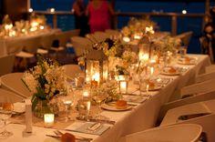 Candles hycanith beach wedding table noosa wedding lovebird weddings Ricky's bar & grill