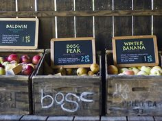 Love these signs for our farm stand