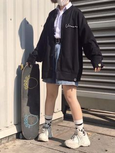 Basic Outfits, Korean Outfits, Girl Outfits, Casual Outfits, Cute Outfits, Fashion Outfits, Look Fashion, Korean Fashion, Girl Fashion