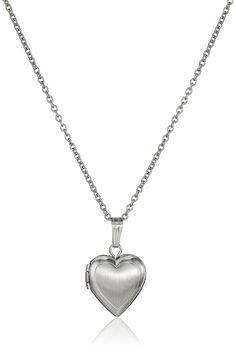 Children's Sterling Silver Hand-Engraved Heart Locket Necklace, 13' *** Check this awesome product by going to the link at the image.