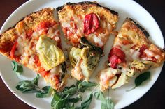 Cauliflower Pizza Crust Pizza...a different version. Made with yogurt.