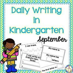 Writing in Kindergarten is so important. Emergent literacy research has shown us that children are not ruined by being allowed to write before they can read. Rather, they learn many important concepts and develop the confidence that they can write.