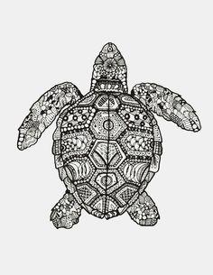 animal, art, drawing, mandala, white and black, First Set on Favim.com