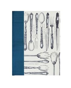 "Housewarming #gift for a cook,Recipe Book Blank w/fab cover! ""Fork Knife Spoon"" by WolfiesBindery $27"