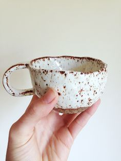 Speckled stoneware tea cup / organic cup/ textured mug/ tea party/ mug/ shino/ speckled by makersGENERALstore on Etsy https://www.etsy.com/au/listing/488527365/speckled-stoneware-tea-cup-organic-cup