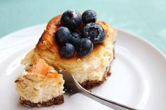 Cheesecake van witte chocolade met blauwe bessen — Corn to be Wild
