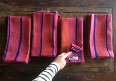 My new Growing Indigo linens with cochineal for Edible Gardens LA. Made with brushed cotton from a small mill in Belgium, natural i. Edible Garden, Shibori, Fiber Art, Indigo, Tote Bag, Cotton, Linens, Tabletop, Fabrics