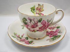 Royal Standard Tea Cup & Saucer, Ramona pattern Fine Bone China England