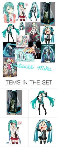 """""""Hatsune Miku"""" by crownedroses ❤ liked on Polyvore featuring art"""
