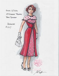 Guys and Dolls (Adelaide). 5th Avenue Theatre. Costume design by Gregory A. Poplyk.