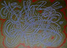 Phosphor -acrylic on canvas by Howie Hardcore