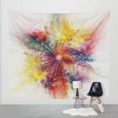 Today Only - 10% Off + Free Worldwide Shipping on Tapestries, Framed Prints and All Wall Art!   Buy Colorful Flower abstract 2016 Wall Tapestry by Christine baessler. Worldwide shipping available at Society6.com. Just one of millions of high quality products available.