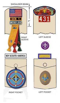 uniform cub scout badge placement - Google Search