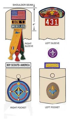 uniform cub scout badge placement - Google Search