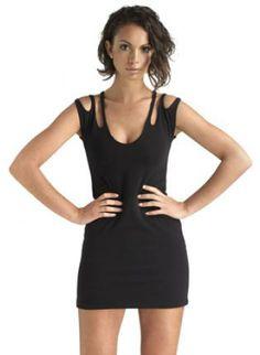 Body-con in Classic Black Dress,  Dress, Hot strappy foxy bodycon, Chic