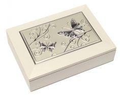 Ékszertartó doboz, ékszerdoboz többféle fém díszítéssel