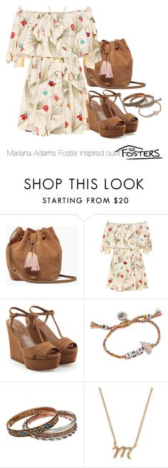 """Mariana Adams Foster inspired outfit"" by tvdsarahmichele ❤ liked on Polyvore featuring UGG, Fendi, Sergio Rossi, Venessa Arizaga, M&F Western and Anne Klein"