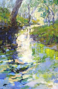 """Spring at the Water's Edge"" - 60x40 by Andrew Braitman - www.carltongallery.com"
