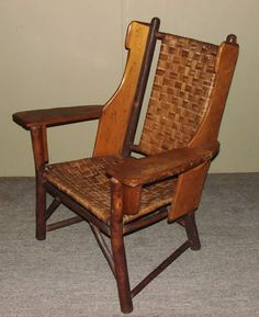 Old Hickory Martinsville Wingback Chair W Label And Branded Mark Made In