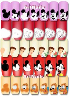 Step-by-step Disney nail art