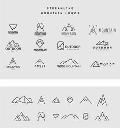 Streamline Mountain Logo Templates on Behance