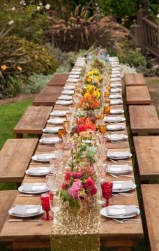 Rustic table seating
