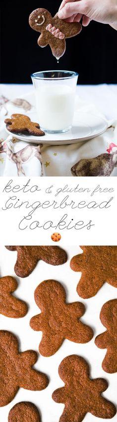 Gluten Free & Keto Gingerbread Cookies #ketocookies #lowcarbcookies