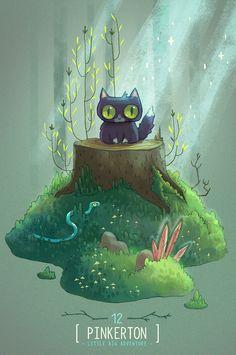"Alena Tkach, illustration for ""Pinkerton: Little Big Adventure"""