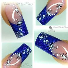 Check out these awesome New Years Eve Nail Art Designs Ideas that will make you look awesome on your night out! This is the kind of party makeup that will set you apart from the crowd! Xmas Nails, New Year's Nails, Get Nails, Fancy Nails, Holiday Nails, Christmas Nail Art, Trendy Nails, Christmas Nail Designs, Fingernail Designs