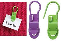 """Locking Stitch Markers with Clips 