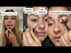 Mind blowing make up hacks to try tiktok - YouTube How To Apply Eyeshadow, Lash Lift, Mind Blown, Natural Makeup, Makeup Tips, Lashes, Make Up, Mindfulness, Hacks