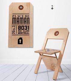 regalos originales silla etiqueta label chair
