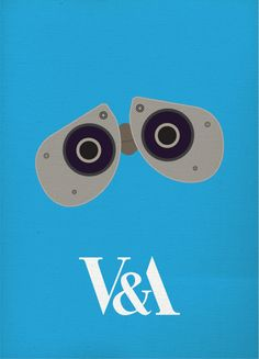 V Exhibition - The Art of Pixar by Jordi Hales, a cute series of minimalist posters