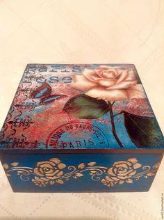 """Купить Шкатулка """"Роза"""" - шкатулка, шкатулка для украшений, шкатулка декупаж, шкатулка для мелочей, шкатулка для рукоделия"""
