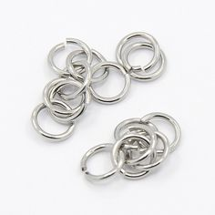 Stainless Steel Jump Ring 7mm  QTY 100 (JR-02) by CarolinaFindingsEtc on Etsy