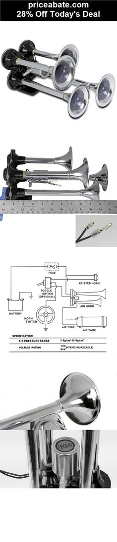 6 trumpets air horn 110 eelectric air horn product 8 28% off chrome zinc impact 12v 115db 4 four trumpet deep loud train sound air