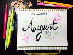 Bullet Journal   Three Monthly August Memories Layout