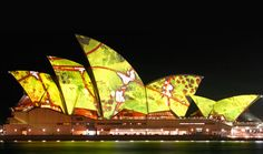 9 Luminescent Artworks Projected