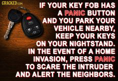 panic button on car keys