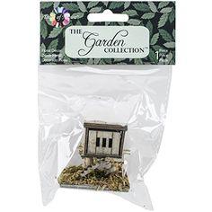 Micro Mini Garden Chicken Coop, 2 inch x inch, Wood, Beige Micro Garden, Gardening Apron, Garden Theme, Wooden Garden, Coops, Joanns Fabric And Crafts, Craft Stores, Floral, Embellishments