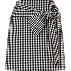 Miss Selfridge Gingham Poplin Skirt (€51) ❤ liked on Polyvore featuring skirts, assorted, miss selfridge skirts, gingham skirt, miss selfridge and poplin skirt