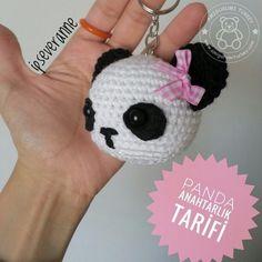 Free amigurumi pattern and knitting crafts models. Crochet Panda, Cute Crochet, Crochet Animals, Knit Crochet, Crochet Hats, Crochet Motifs, Crochet Patterns Amigurumi, Crochet Dolls, Crochet Keychain