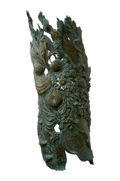 Art - Scutum - Gold Prize in Florence - Enrica Barozzi's wood sculpture and colour