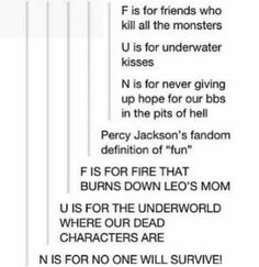 Two types of people in the Percy Jackson fandom ~ Rae Percy Jackson Memes, Percy Jackson Books, Percy Jackson Fandom, Rick Riordan Series, Rick Riordan Books, Solangelo, Percabeth, Underwater Kiss, Percy And Annabeth