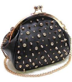 DESIGNER BLING Rhinestone   Crystal Studded w Spikes Clutch Case Evening Bag  by Jersey Bling aaea1a6127c01