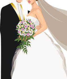 ثيم زواج идеи в 2019 г. wedding illustration, wedding drawing и wedding inv Wedding Logo Design, Wedding Logos, Wedding Designs, Wedding Cards, Photo Clipart, Wedding Drawing, Wedding Guest Looks, Wedding Illustration, Art Drawings For Kids