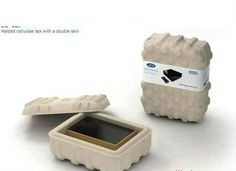 pulp packaging - Google Search Cardboard Packaging, Plastic Packaging, Soap Packaging, Packaging Design, Protective Packaging, Box Design, Biodegradable Products, Recycling, Packing