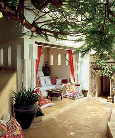 Poolside alcove Lamu house, Kenya